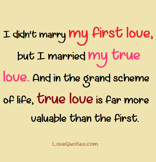 First Love Say Yes To Life